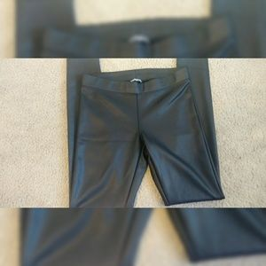 Black Express Faux Leather Pants